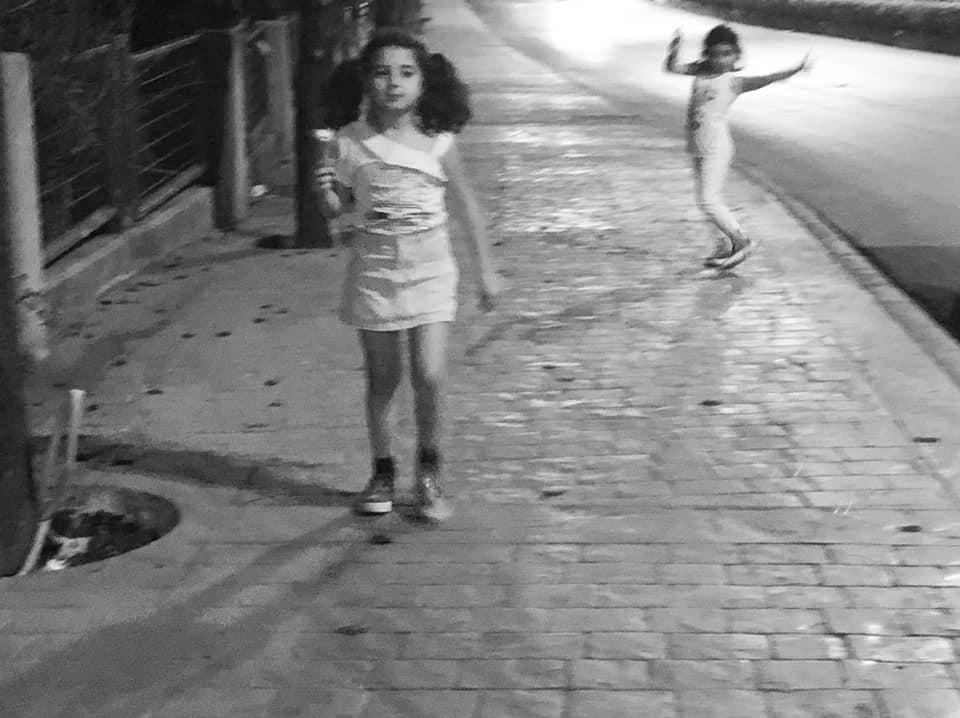 photo gracia bejjani texte rue liban enfant fille glace jeu poesie nuit