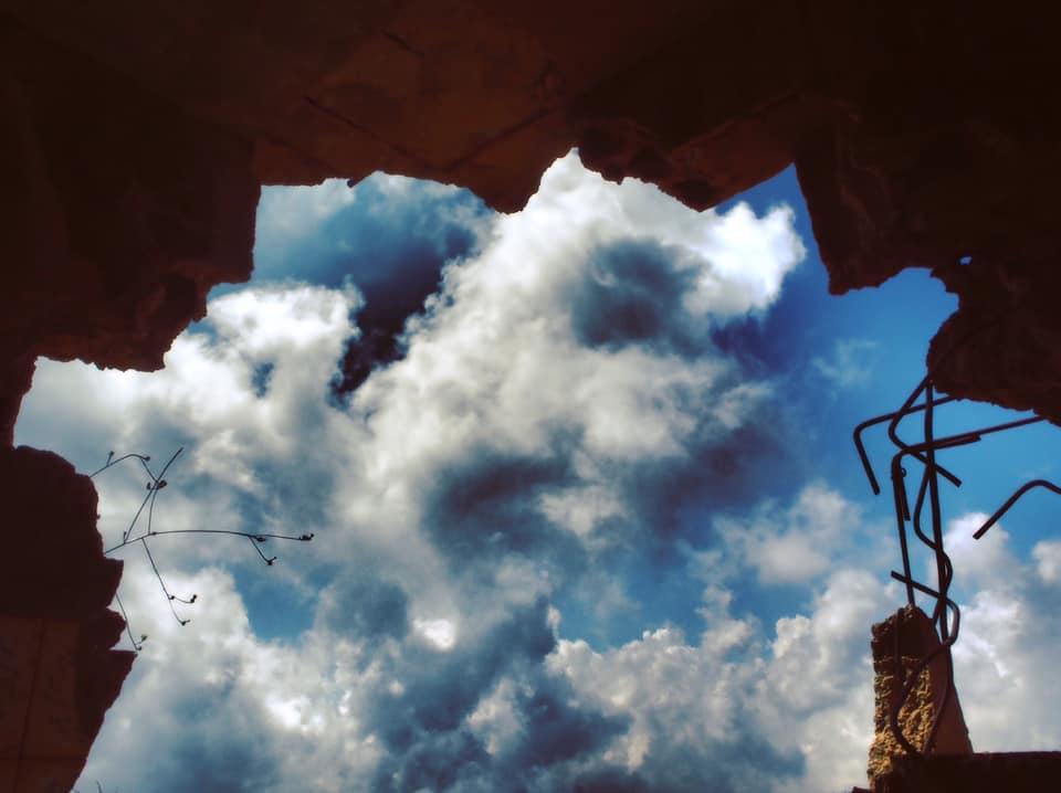 nuage ciel trou poeme poesie ecriture litterature texte gracia bejjani