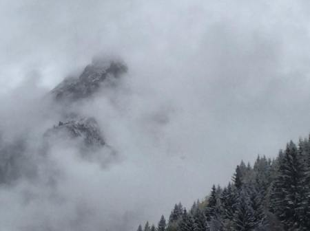 montagne brouillard oubli perte