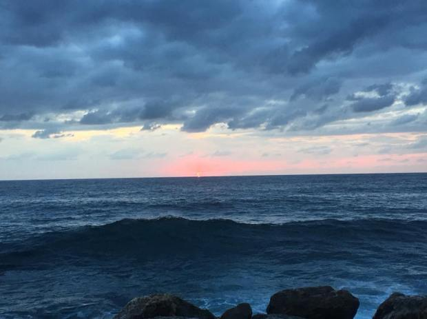 mer liban coucher soleil